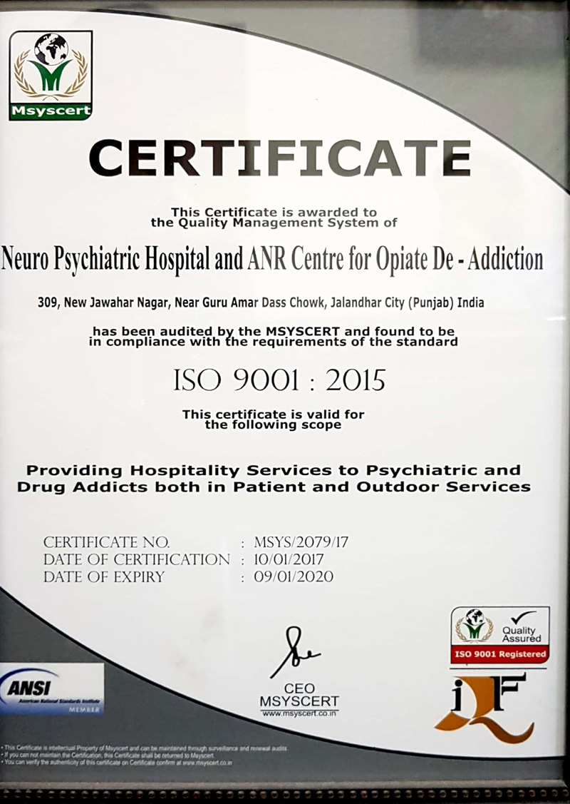 Empowerment Accreditation gallery of Dr Sarbjit's Neuro Psychiatric Hospital and anr Centre for Opiate De Addiction Jalandhar